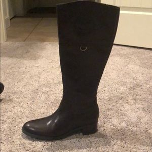 Etienne Aigner chasity brown leather riding boot